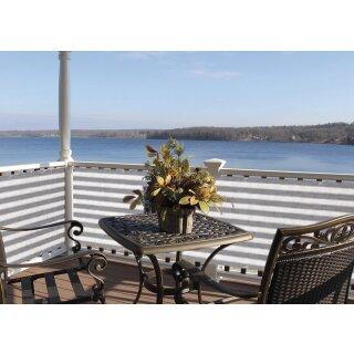Balkonbespannung 90x500cm Sichtschutz Windschutz Balkonverkleidung Zaun aus HDPE