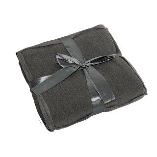 Patchworkdecke Kuscheldecke Sofadecke Decke Jersey 150x200cm Grau