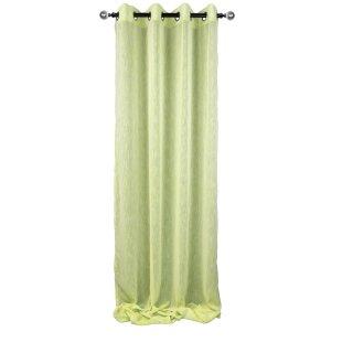 Ösenschal Gardinen grün 140 x 245cm Vorhang Verdunkelungsgardine Store Portiere
