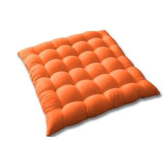 Stuhlkissen 40x40cm orange Sitzkissen Bodenkissen Sitzauflage Polster Wildleder