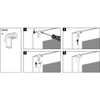 Seitenschiene für Seitenzugrollo, 150 cm, weiß
